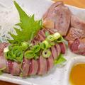 料理メニュー写真大山鶏の炙り肝ネギ