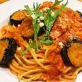 料理メニュー写真茄子とベーコンのチーズパスタ