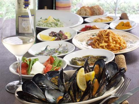 イタリアで修業を積んだオーナーシェフによるシチリア島の郷土料理をご堪能頂けます!