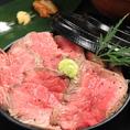 レアステーキ丼980円(税抜)