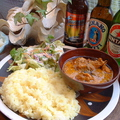料理メニュー写真クリーミーチキン・インド風