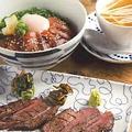料理メニュー写真牛タン焼6カット&気仙沼産漬けまぐろ丼 半熟玉子定食