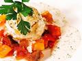 料理メニュー写真柾風コースの一品「ホタテのトマトソース」