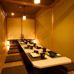 【宴会】【歓送迎会】落ち着きのある、完全個室ですのでプライベート空間をお楽しみいただけます。
