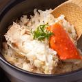料理メニュー写真北海道産 タラバ蟹の土鍋御飯