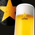 「マイアーレ」の生ビールはサッポロ黒ラベル!生で飲める希少なお店です。