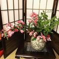 ピンクのバラ。庭のお花は店内に飾っています♪