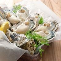 貝殻荘の牡蠣料理