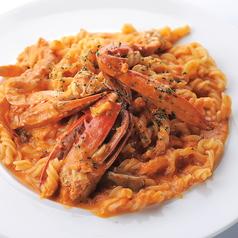 渡り蟹のトマトクリーム