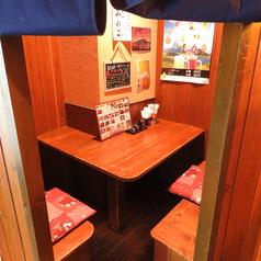 通称「ほっこりカップルシート」テーブル個室で、デート使いならココで決まり!!是非ご予約を♪