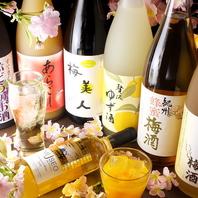 豊富な梅酒の種類が◎