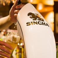 タイのドラフトシンハービール