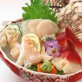 料理メニュー写真貝刺身3種盛り合わせ