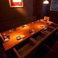 落ち着きのある個室空間♪テーブル席完全個室☆