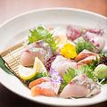 料理メニュー写真鮮魚のお造り盛り合わせ