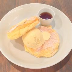 リコッタパンケーキ&バニラアイス