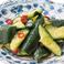 ピリ辛タタキきゅうり/長芋たまり醤油漬け