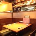 1階は仕切られた4人席がメイン。半個室もございます!サラリーマン・OLで連日大盛況!!自慢の料理と一緒に楽しんで♪