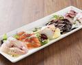 料理メニュー写真本日の鮮魚のカルパッチョ5種盛り合わせ