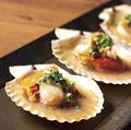 料理メニュー写真北海道産帆立の殻焼き