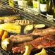 溶岩で焼く、美味しいお肉