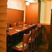 8名様までご利用頂ける個室スペース♪お席の詳細は店舗へお問い合わせください。※こちらのお席は半個室です。