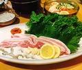 料理メニュー写真サムギョプサルセット(サンチュ、ニンニク、みそ、青唐辛子)