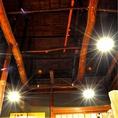 座敷の天井は昔ながらの梁がむき出しです!