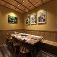 6名様の個室です。 個室を4テーブル繋げて最大28名様までご一緒に食事ができます。