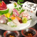料理メニュー写真池袋初!!!? 刺身盛り合わせ ~魚や名物うに醤油で食べる至福の刺身~