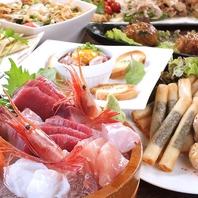 新鮮魚貝や串など大充実の飲み放題付きコース4000円~♪