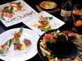 【各種宴会向けコースをご用意】料理◎雰囲気◎コスパ◎の当店は、女子会・誕生日・記念日・デートなど各シーンでご利用いただけます。