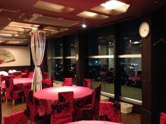 8名様テーブル  京都方面の街並みを・・