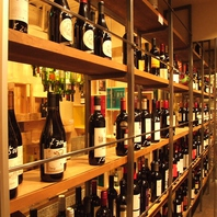 ワインの種類も豊富です♪