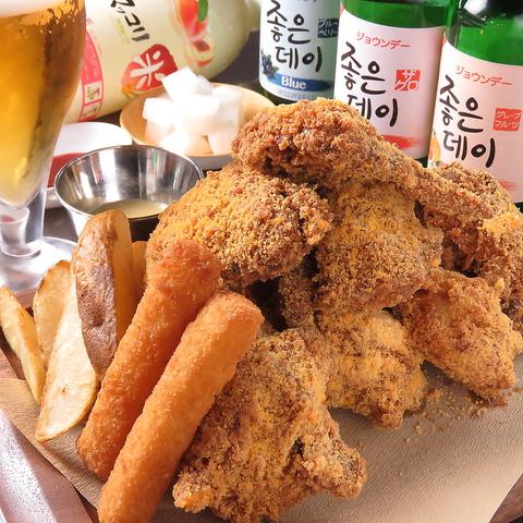 韓国 風 フライド チキン