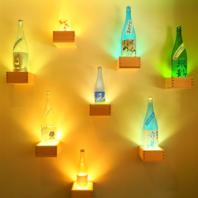【幻想的なライトアップ♪日本酒ボトルで空間演出】