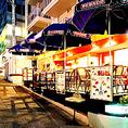 夜のテラス席はパリの雰囲気そのもの!時間を忘れてごゆっくりとお過ごし頂けます。