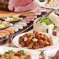 料理メニュー写真毎月旬の食材を使った料理をお届けします