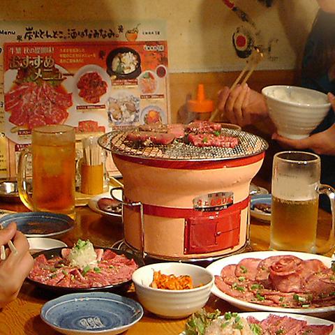みんなが集まったらテーブル囲んでアレコレわいわい♪楽しめる焼肉で楽しいひと時を