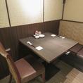 2名様用のお席です!並んで座れるのでカップルのお客様に大人気♪対面して座るのが気恥ずかしいときも、このお席なら安心◎人気席のため、ご希望の際はぜひご予約ください。