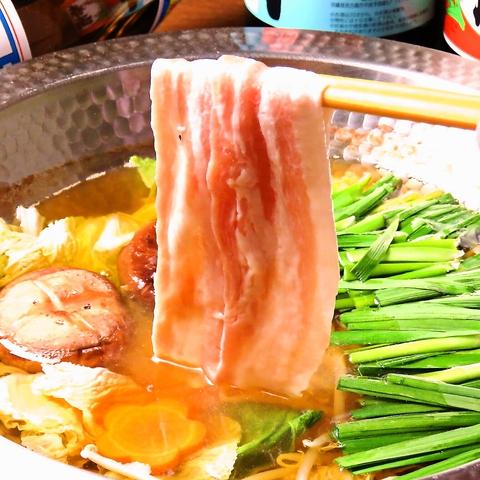 【〆まで美味しい!アグー豚の鍋コース】全8品120分飲み放題付⇒4500円(税込)