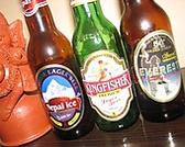 インド・ネパールのビールも楽しめます。