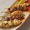 料理メニュー写真串焼き五種盛り合わせ