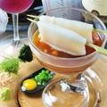 料理メニュー写真名物料理 いかソーメンうに醤油 (レギュラー/ハーフ)