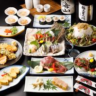 肉割烹ならではの肉寿司や逸品料理は国産素材を使用!