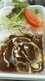 【お持ち帰りOK】キッチンQ自慢のお弁当★ハンバーグ弁当550円