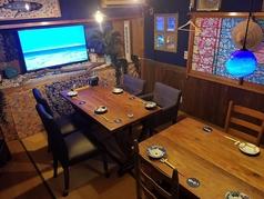 完全に仕切られた個室ですので落ち着いてお食事を楽しみたい方などにぴったりのお席です。6名様から10名様でご利用いただけます♪