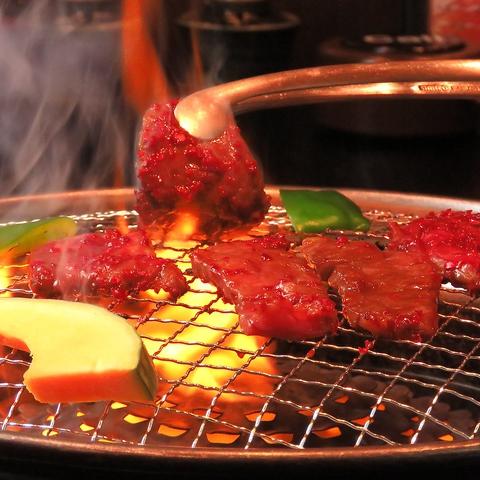 【おいしい】【安心】【本物】の厳選された牛肉を使用した焼肉を堪能。