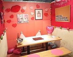 ホームパーティー空間!女子会や誕生日会に可愛く楽しく美味しく食べ放題を楽しんで下さい!