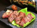 料理メニュー写真鹿肉のバラ焼